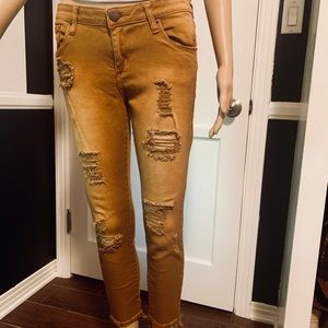 STS Blue Tan/Carmel distressed jean